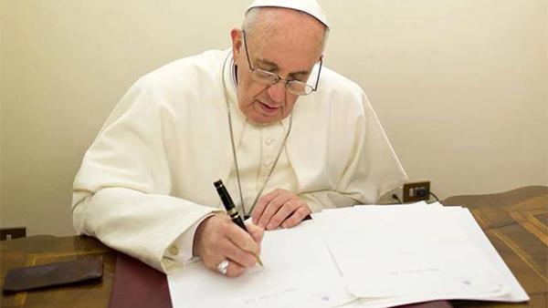 Ferenc pápa levélben köszönte meg a fogadtatást