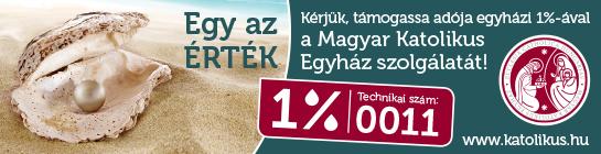 Kérjük, éljenek a lehetőséggel, és juttassák el adójuk 1%-át a Magyar Katolikus Egyház részére, másik 1%-át pedig valamelyik egyházközeli alapítványnak
